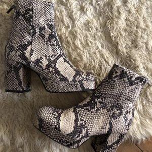 Topshop snake skin boots